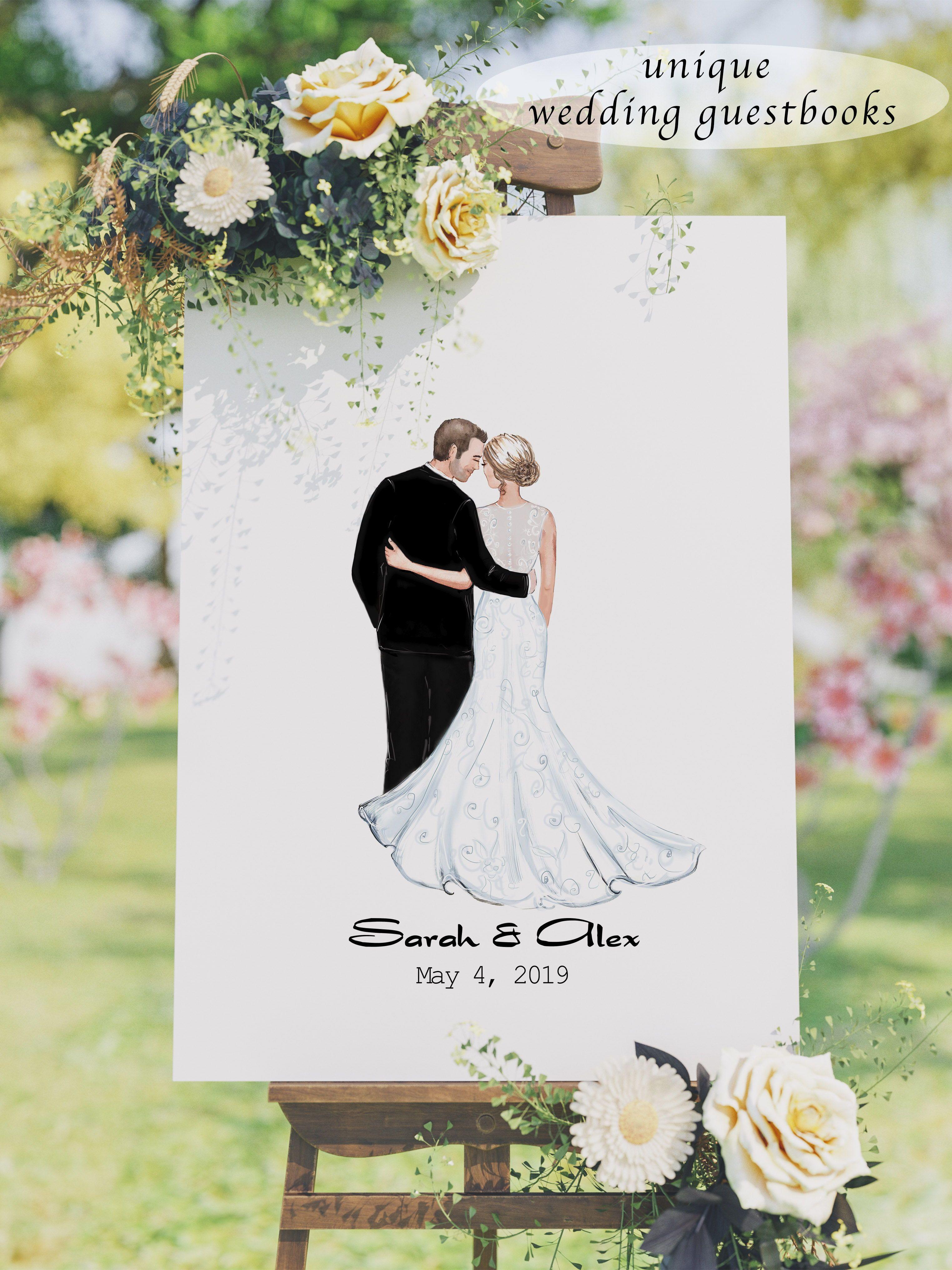 Wedding Guest Book Alternative Unique Wedding Guestbook Etsy Wedding Guest Book Unique Wedding Guest Book Personalized Wedding Guest Book