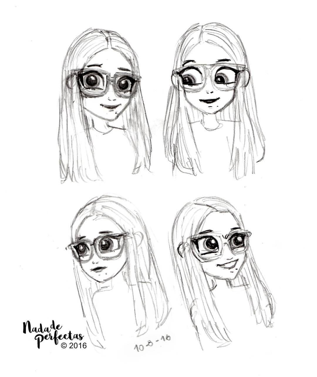 Bocetos sobre SoyLuna Cmics Nina la mejor amiga de Luna