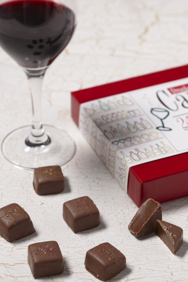 Cabernet Caramels With Milk Chocolate Box With 24 Pieces By