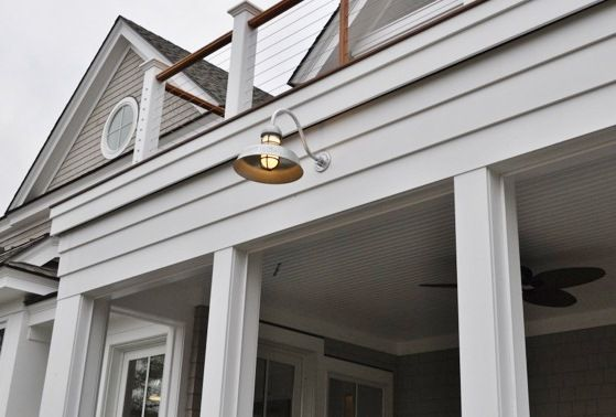 Coastal Outdoor Lighting Classic Gooseneck Warehouse Shades For New Construction