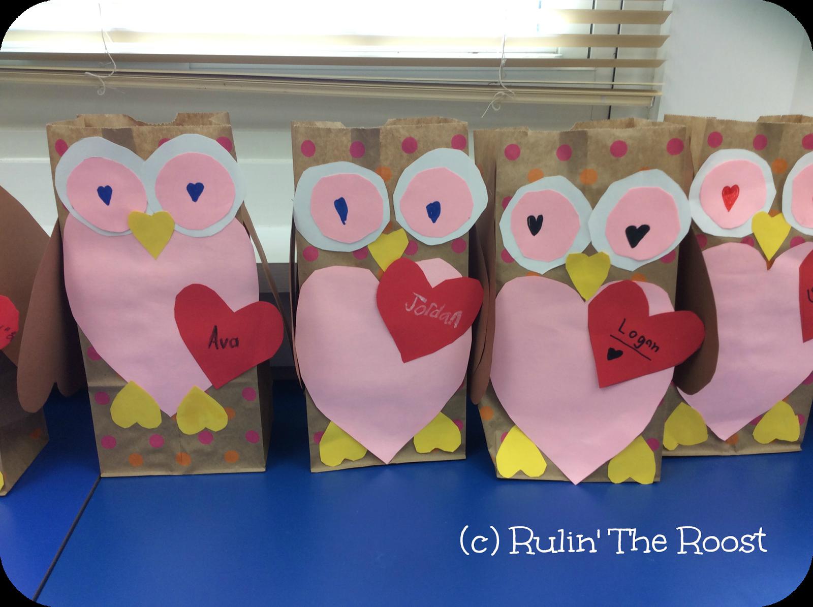 valentine activities owl lunch bag craft whoooo doesnt love an owl valentine bag - Valentine Bags For School