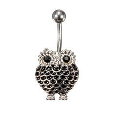 #Banggood Stainless Steel Crystal Owl Navel Belly Button Ring Piercing Jewelry (974753) #SuperDeals