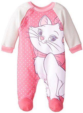0171917fc Amazon.com: Disney Baby-Girls Newborn Marie Arista Cats Fleece Coverall:  Clothing