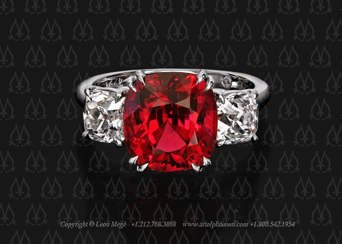 7a9e13e8438d5 Leon Mege ruby and diamond engagement ring. Search for r5932 in ...