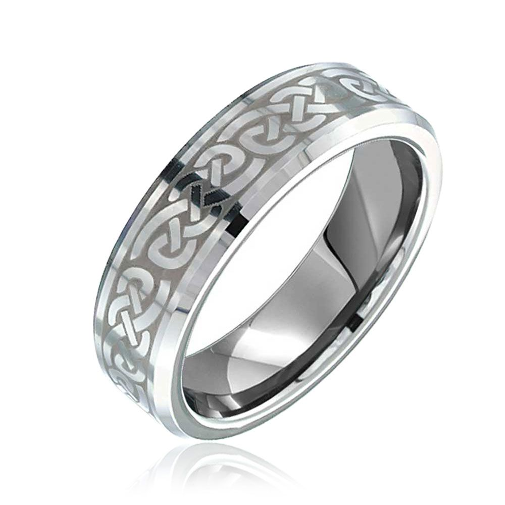 Celtic Infinity Love Knot Wedding Band Tungsten Ring For