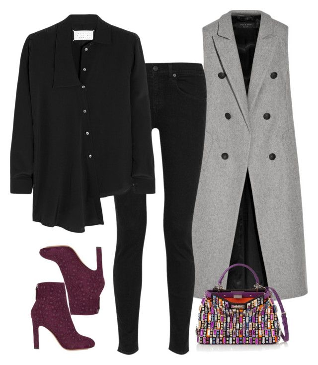 """""""Fendi"""" by alwayswearwhatyouwanttowear ❤ liked on Polyvore featuring rag & bone, Maison Margiela, Fendi, Alaïa, outfit, outfits and fashionset"""