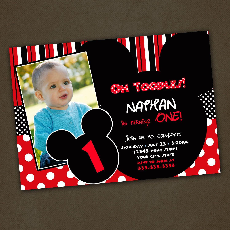 custom mickey mouse birthday invitations - Fieldstation.co