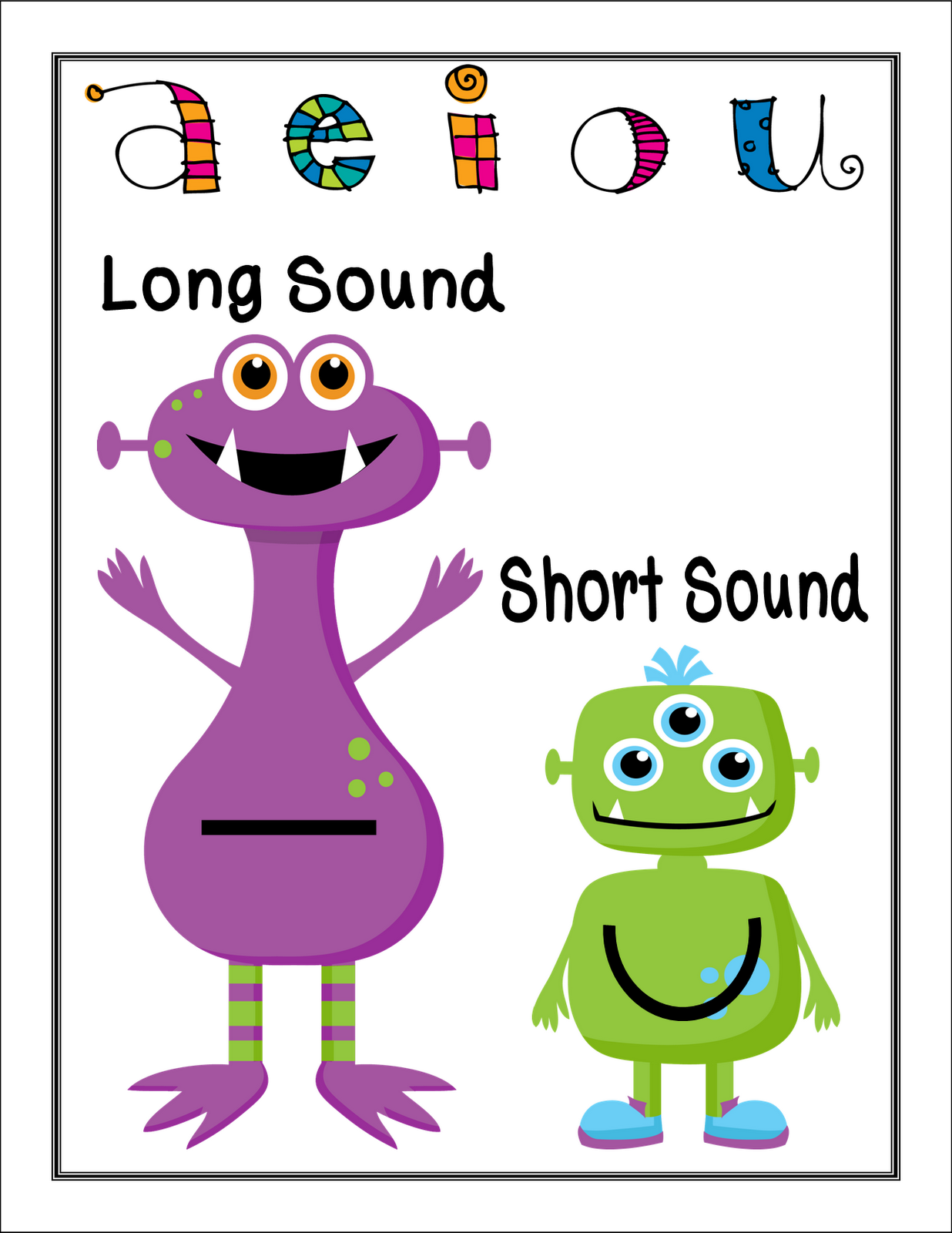 Get Your Kiddos Up And Moving With These Free Long And Short Vowel Posters