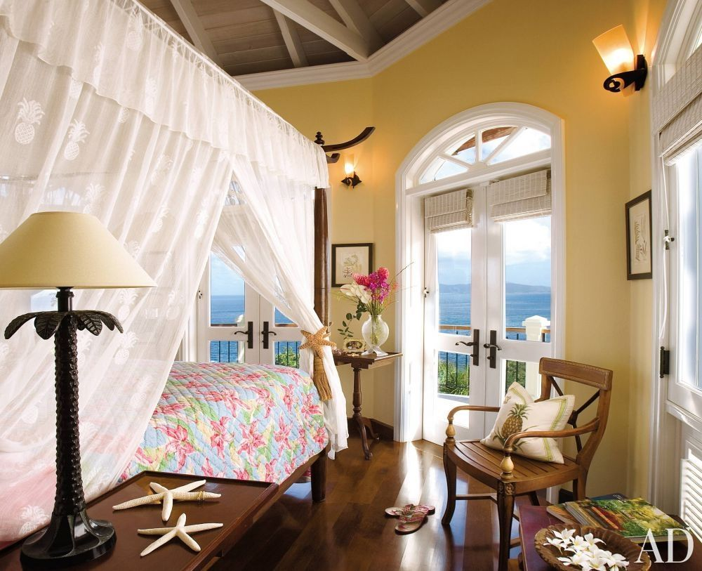 Traditional bedroom by twila wilson and mike de haas in st john caribbean