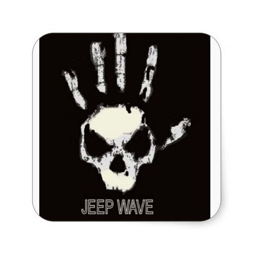 Jeep Wave Decal Square Sticker Jeep Wave Jeep Stickers Offroad
