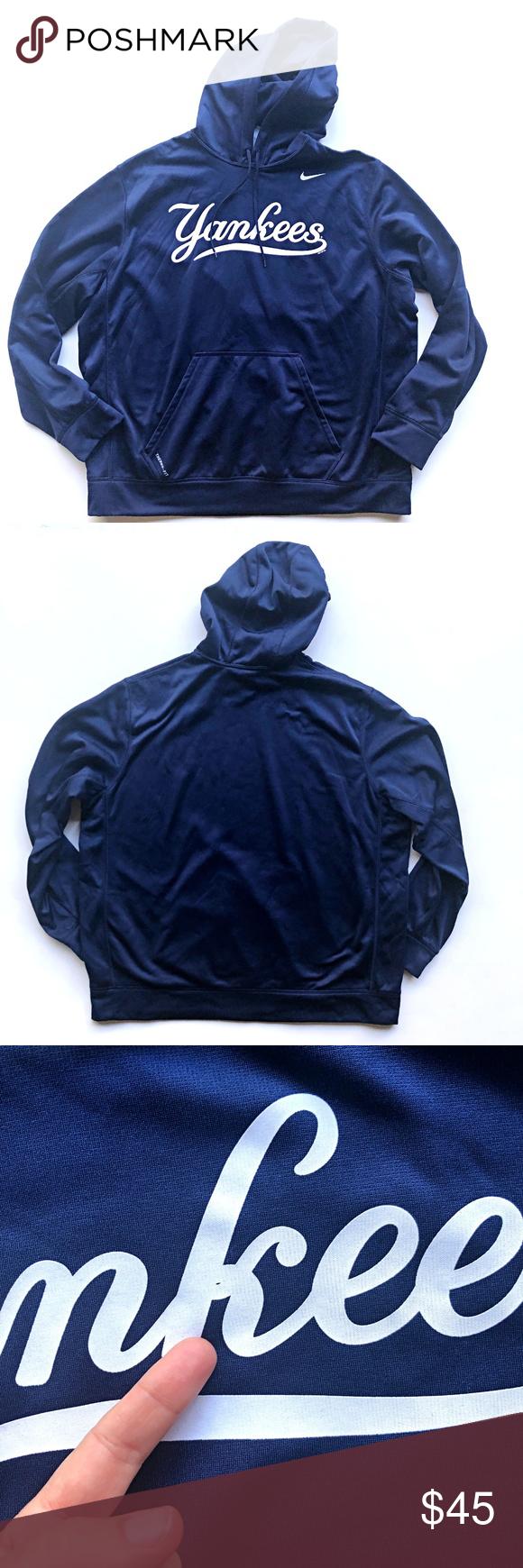 Nike Therma Fit Mens Ny Yankees Sweatshirt Hoodie Sweatshirts Hoodie Ny Yankees Hoodies [ 1740 x 580 Pixel ]