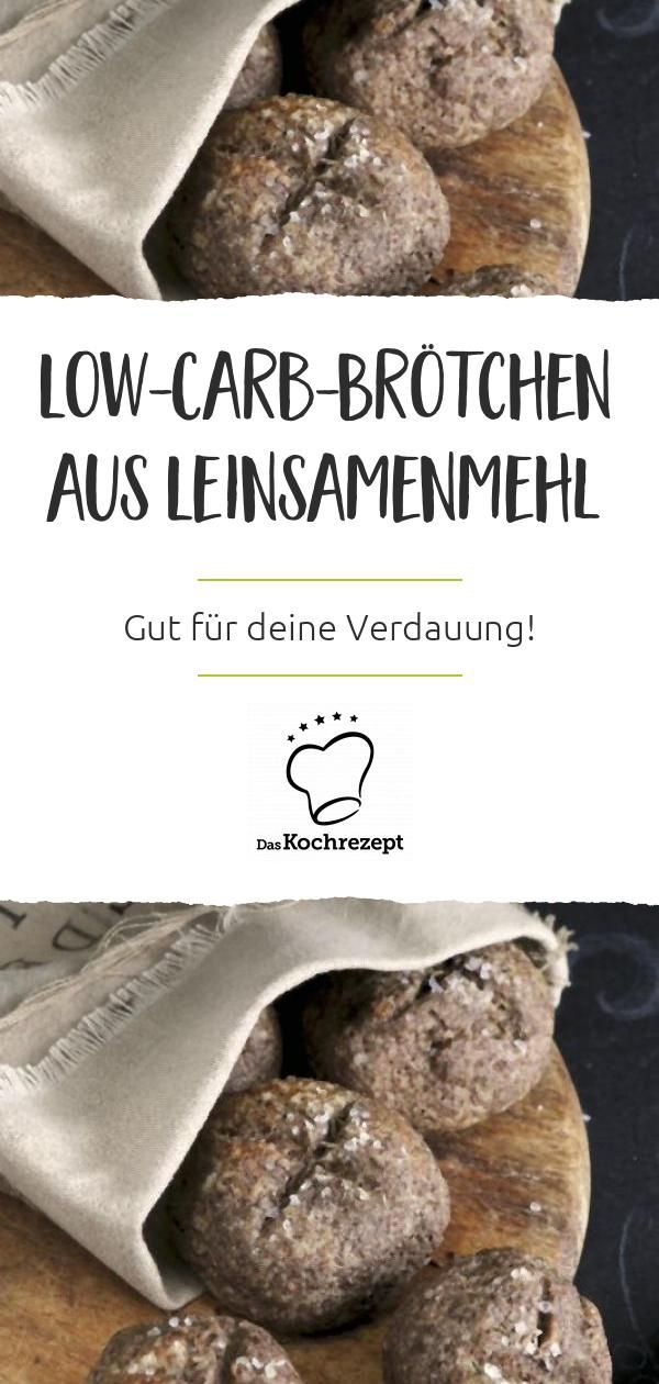 Low-Carb-Brötchen aus Leinsamenmehl #flaxseedmealrecipes