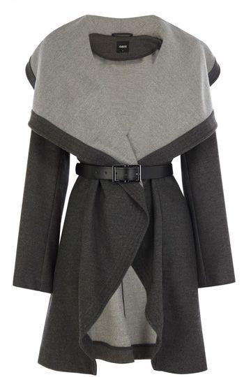 0834cd0f3850 Draped coat - oasis | Lovely coats in 2019 | Fashion, Winter Coat ...