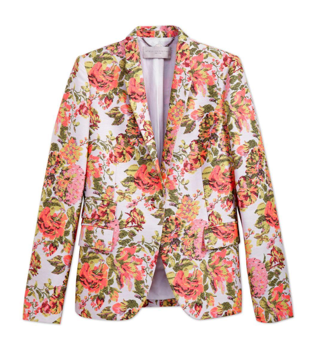 Stella mccartney floral jacquard jacket style pinterest