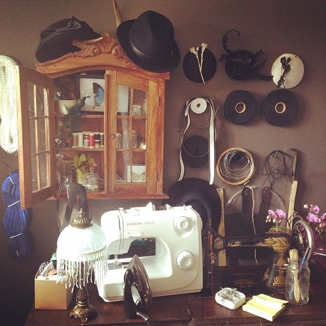 Preview of my millinery studio!  www.milliness.com