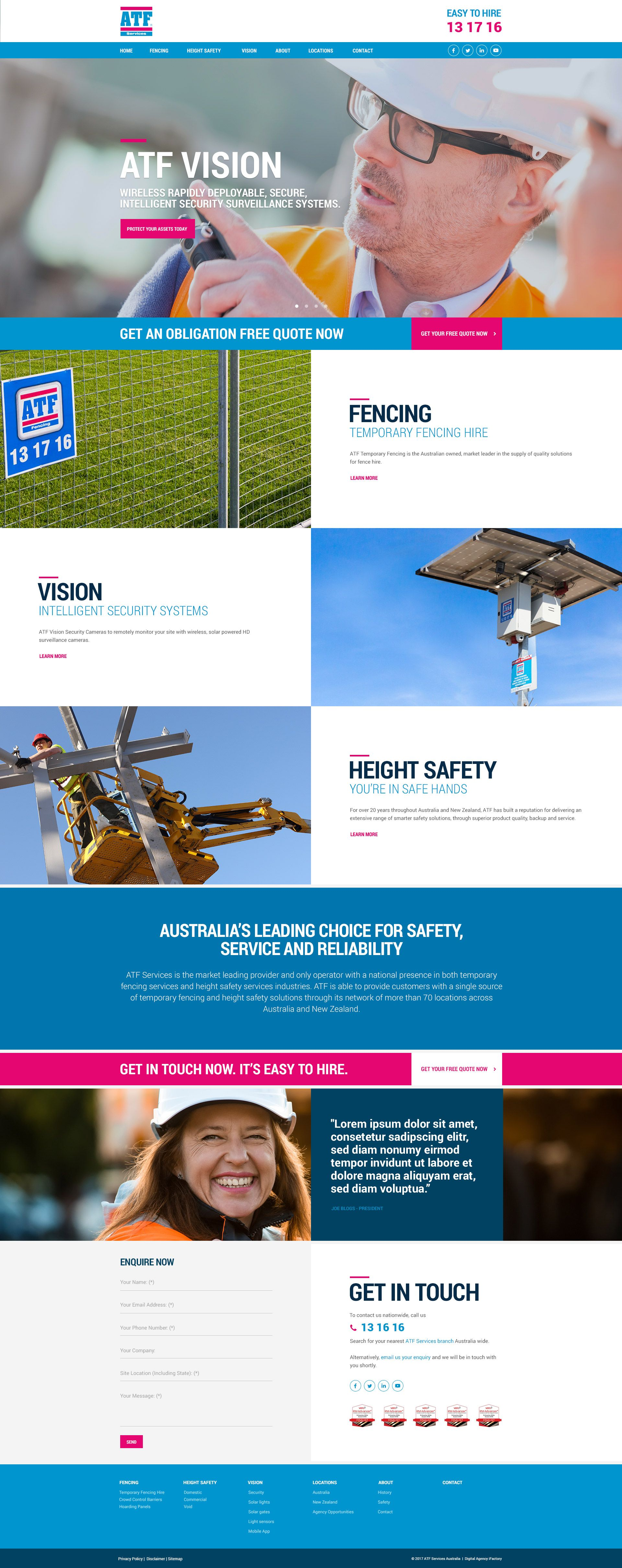 Past Project Atf Vision Web Design Brisbane By Ifactory Webdesign Design Website Design Web Development Design Online Web Design Web Design Quotes