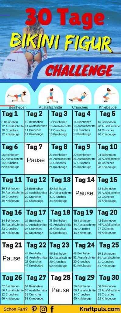 30-Tage Bikini Figur Challenge: So bekommst auch du den Summerbody! WOW In nur 30 Tagen zur idealen...