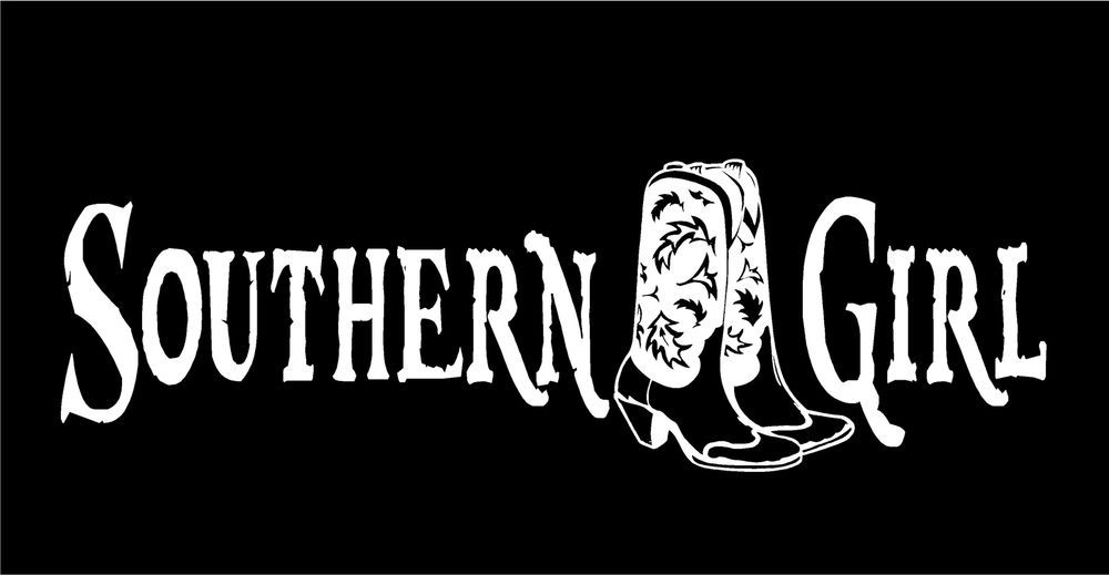 Southern Girl Decal Cowgirl Cowboy Boots Car Truck Window Country - Rear window hunting decals for trucksduck hunting rear window graphics best wind wallpaper hd