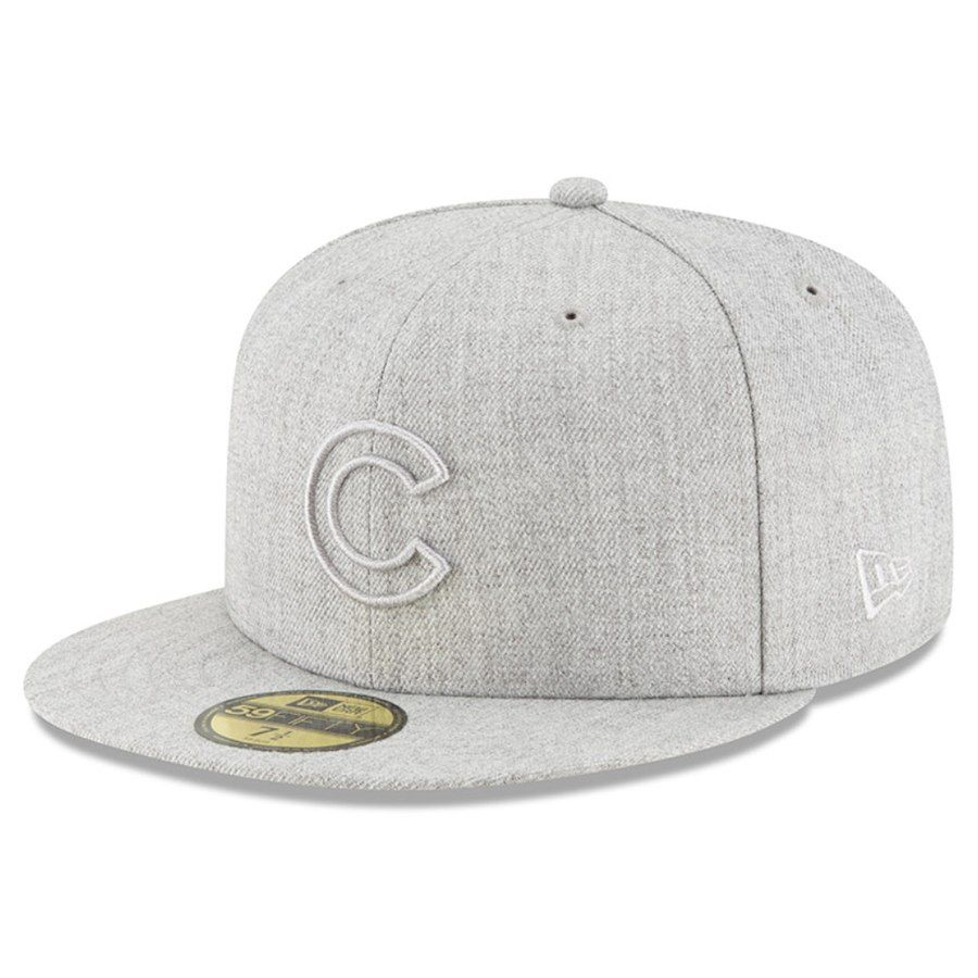 5c76dc3168d6e Men s Chicago Cubs New Era Gray Twisted Frame 59FIFTY Fitted Hat ...