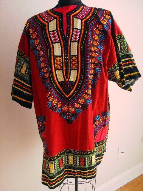 55af7a37f836d Vintage Men's Shirt Dashiki Hippie BOHO India print XXL | X62.5 ...