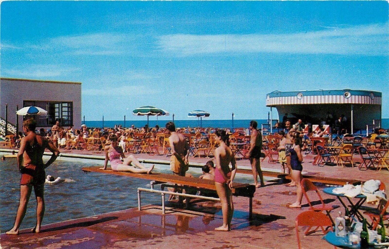 Virginia Beach Virginia The Surf Club Swimming Pool 1950s Virginia Beach Sandbridge Beach Swimming Pool Art