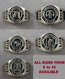 Army Airborne Unit Ring Choice Of 18th 82nd 101st 173rd 509th 82d