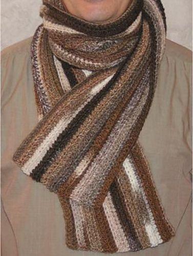 Easy Men Scarf Pattern By Sophie Gelfi Designs Crochet Knitting