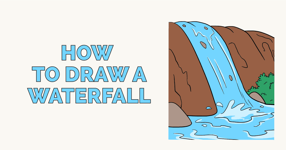 How To Draw A Waterfall Really Easy Drawing Tutorial Her