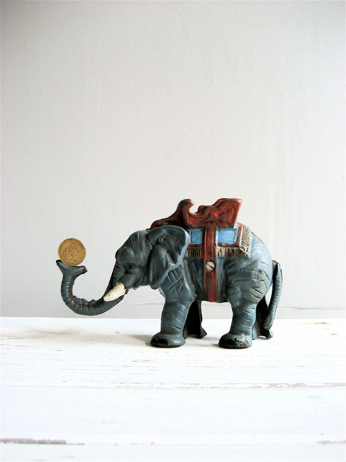 RESERVED Old Cast Iron Elephant Bank | Wanted | Pinterest | Banks ...