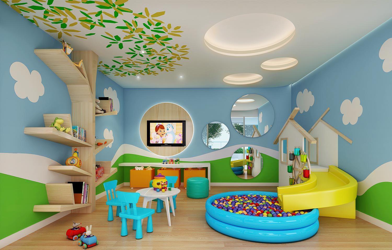 Blue Residence Marquise Incorporacoes 03 Brinquedoteca Jpg 1500 958 Sala De Juegos Para Niños Diseño De Guardería Sala De Juegos