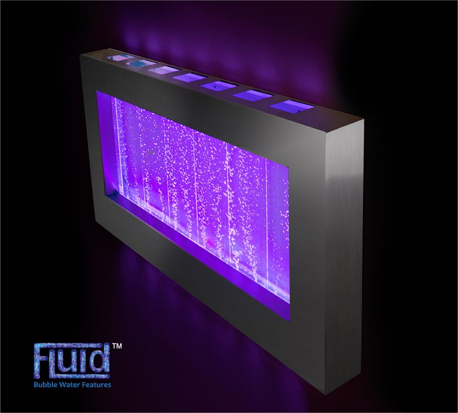 95cm Hanging Landscape Bubble Water Wall With Colour Changing Led