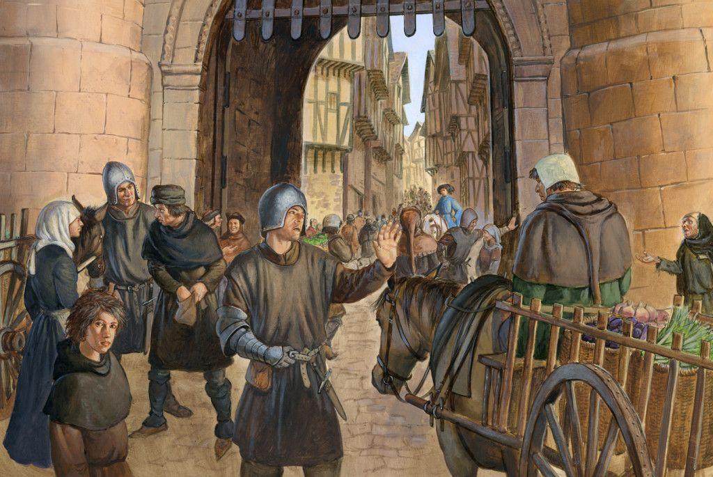 картинки средневековый город и его жители качестве украшения