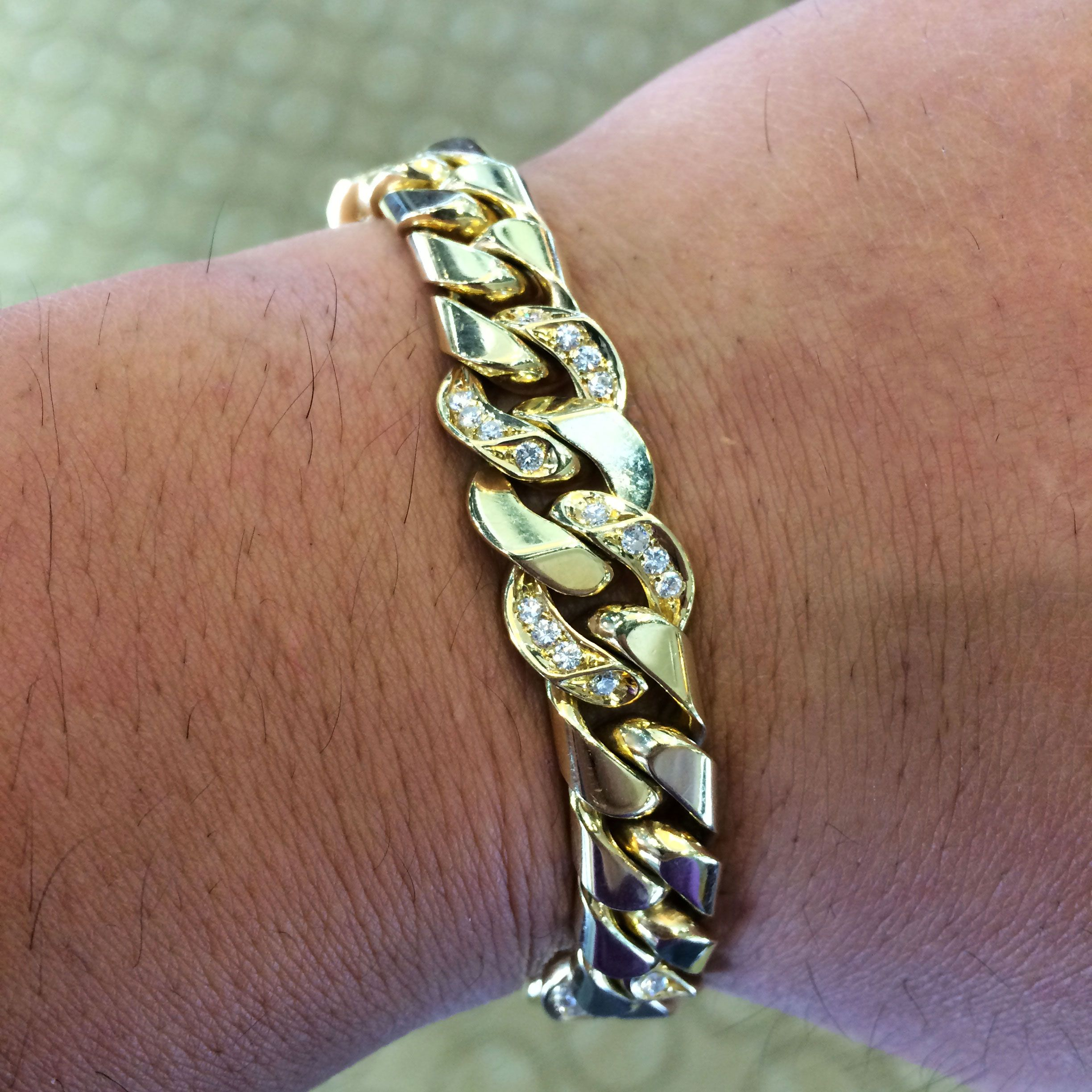 Bulgari k yellow gold ctw diamond link gents bracelet bloggy