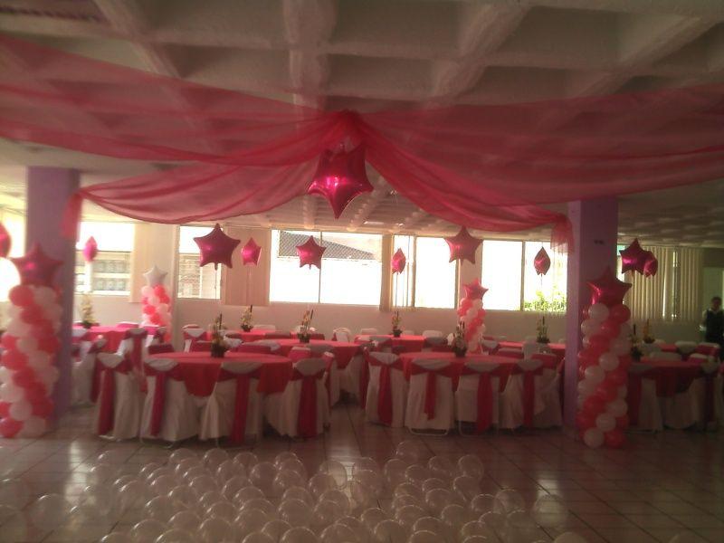 Resultado de imagen para decoracion de 15 a os con globos for Decoracion con telas