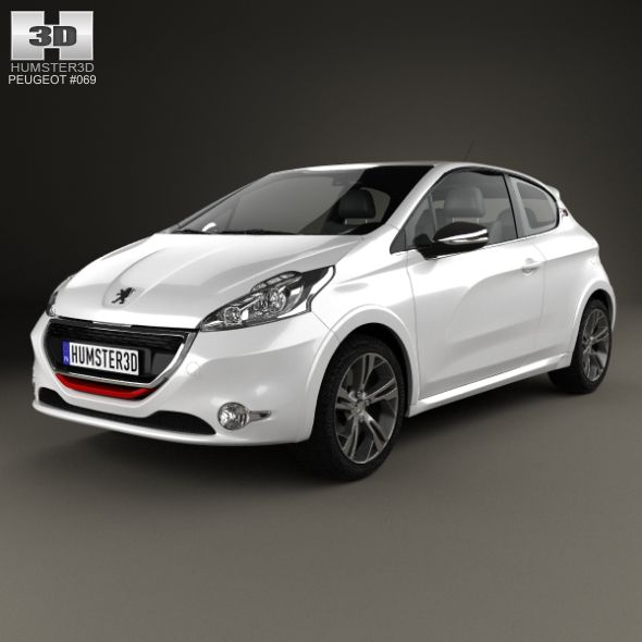 The 3d Model Was Created On Real Car Base It S Created Accurately In Real Units Of Measurement Qualitatively And Maximally Close T Peugeot 208 Peugeot Autos