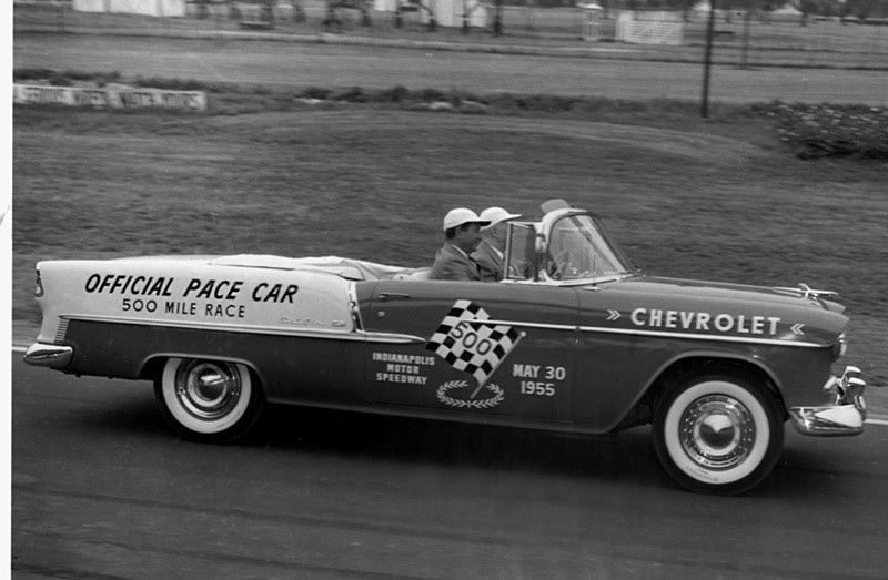1955 indy 500 pace car the chevrolet bel air chevrolet