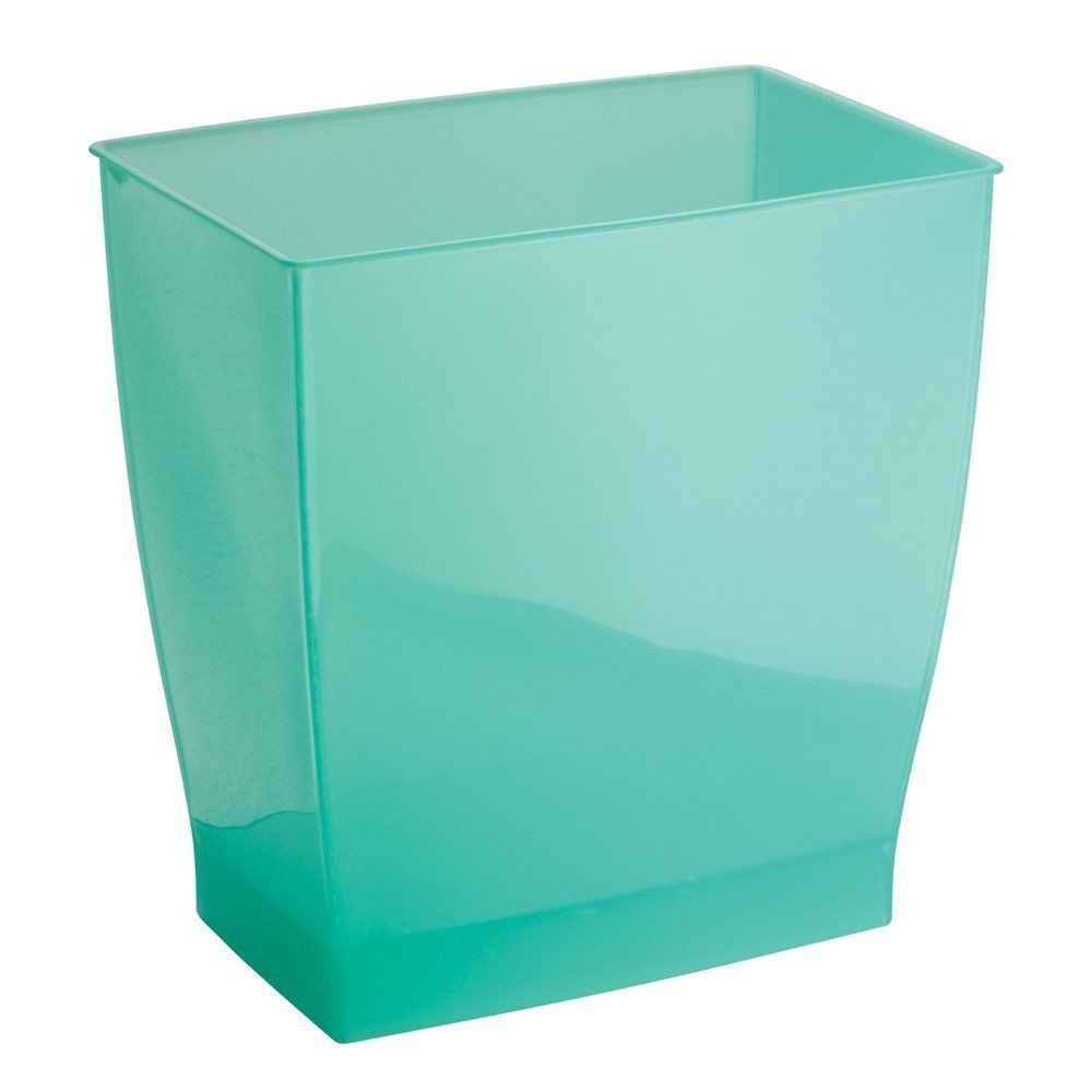 Aruba Green Rectangular Shape Wastebasket Bathroom Kitchen Office ...