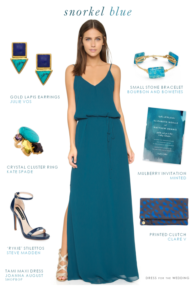 This Deep Turquoise Blue Maxi Dress Is Perfect For Beach Bridesmaids Destination Weddings Spring And Summer Wedding Guest Outfits