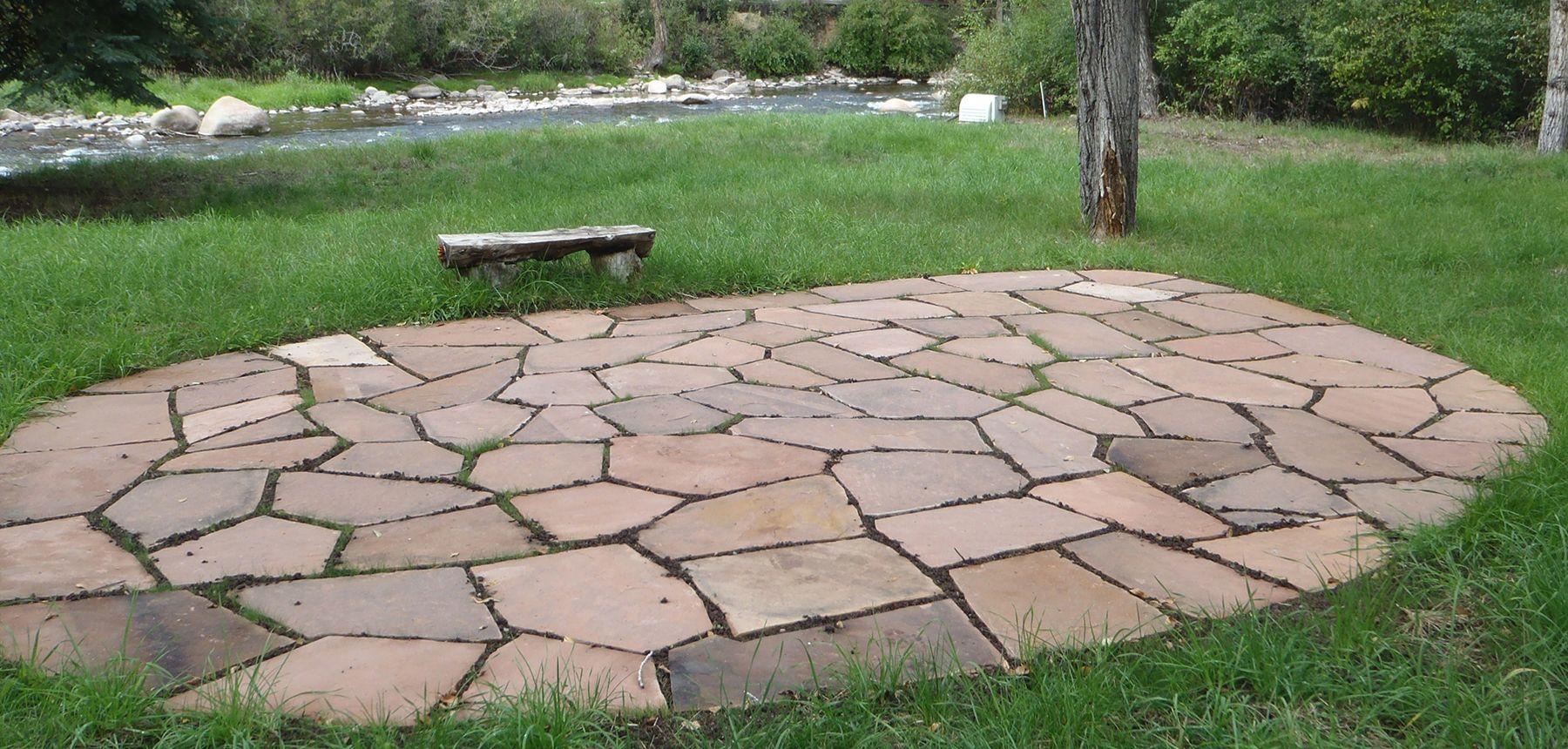 flat rock patio flat stone patio