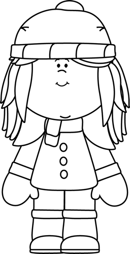 Black And White Winter Girl Clip Art Black And White Winter Girl Image Coloring Pages Coloring Pages Winter Winter Girls