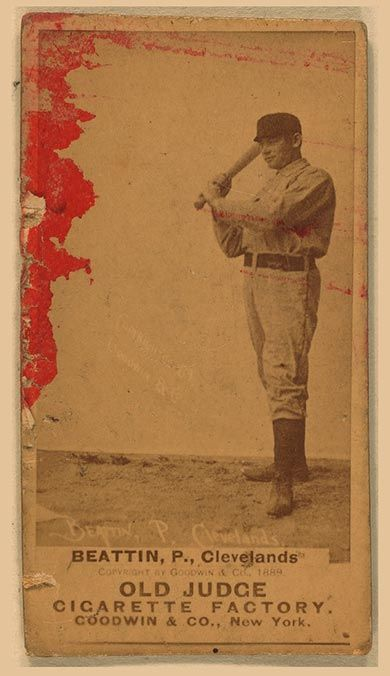 1887-1890 N172 Old Judge Cigarettes Ed Beatin Cleveland