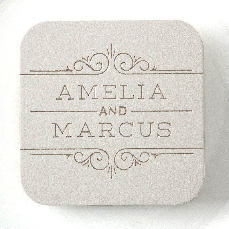 SCROLL FRAME Coasters – Wedding Coaster, Wedding Decor, Wedding ...