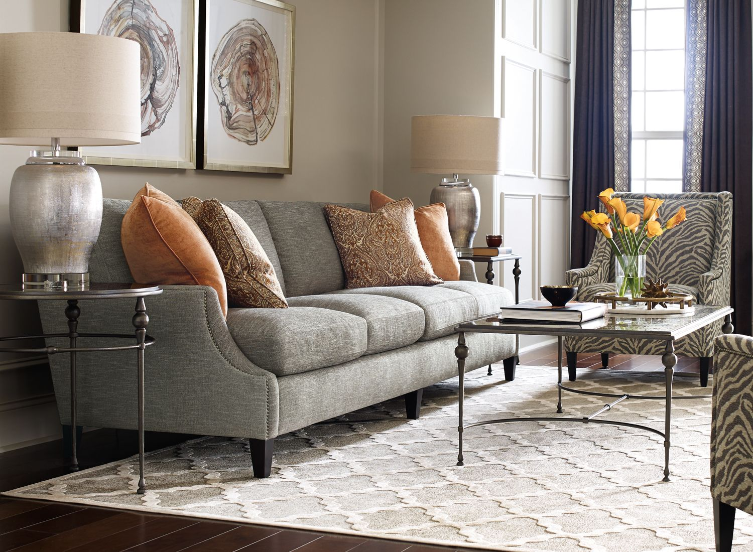 Extra Long Crawford Sofa From Bernhardt Available Toms Price