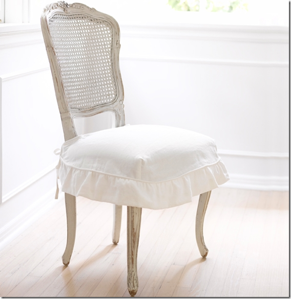 50 Cool And Creative Shabby Chic Dining Rooms: Simple Slip Covered Chair...for My Dining Room Chairs