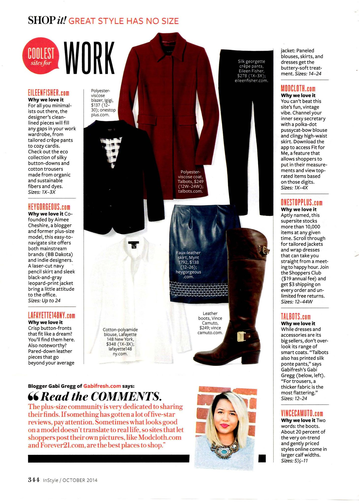 As Seen In: Instyle October 2014 | Hey Gorgeous!