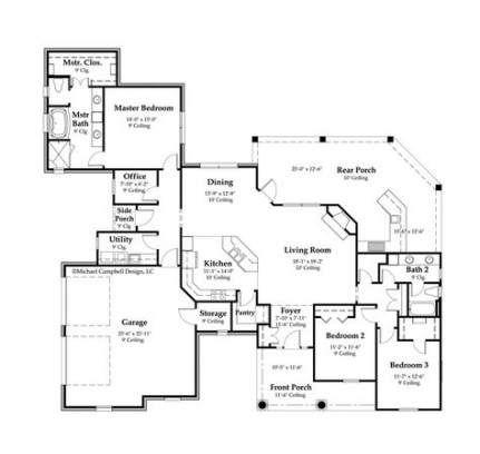 38 Ideas House Plans 2000 Sq Ft 4 Bedroom Floors New