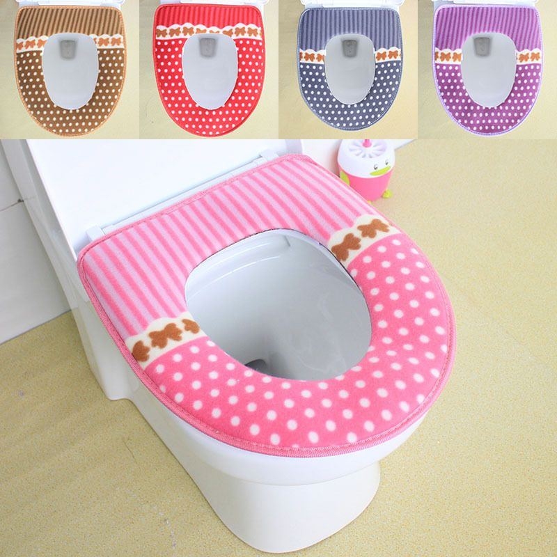 heated padded toilet seat. Toilet seat cover warmer winter washable waterproof magic button toilet  cushion overcoat case plush suede