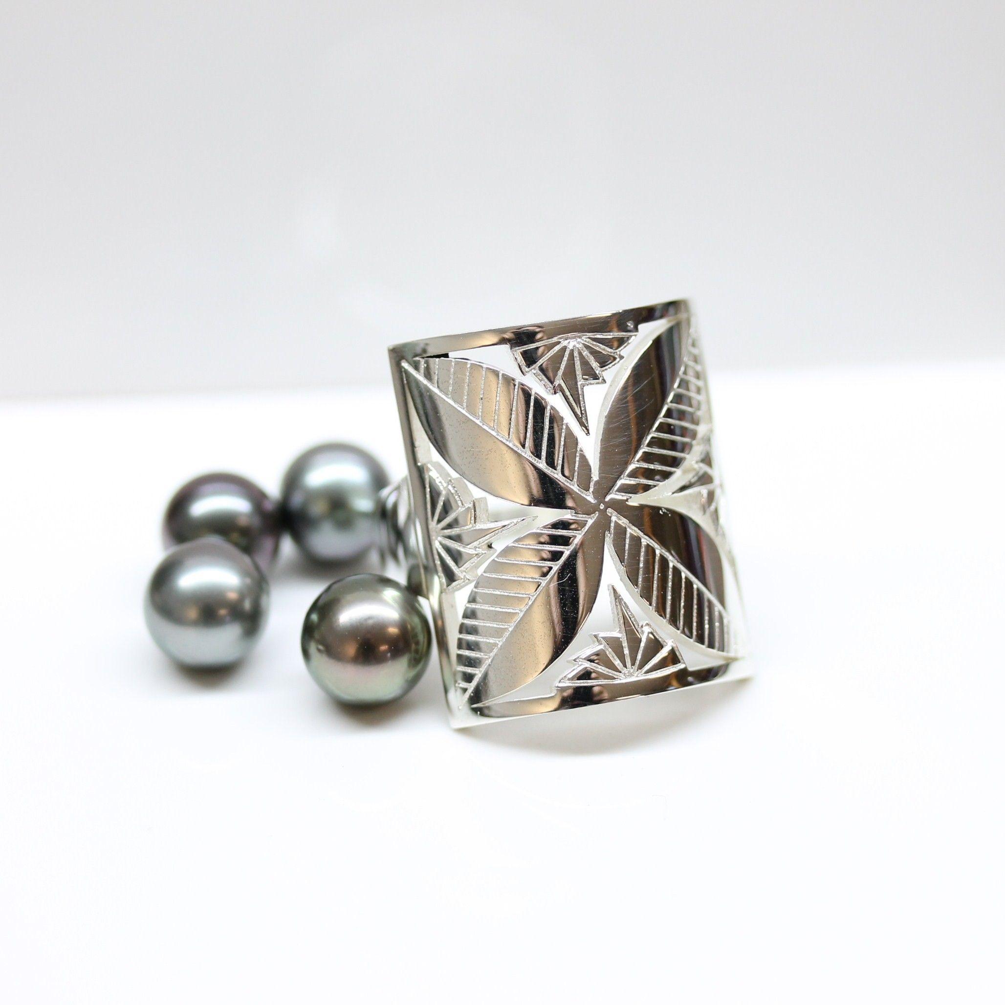 Detailed Flower Ring Nesian Creations Island jewelry