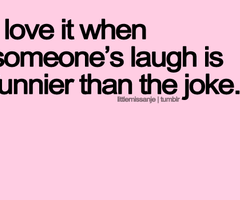 laughter and love