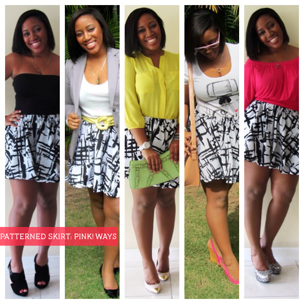 Same Skirt Different Tops Variety Of Looks 3 Skirt